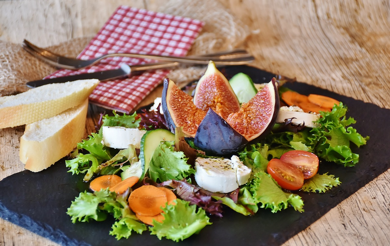 salad figs cheese free photo