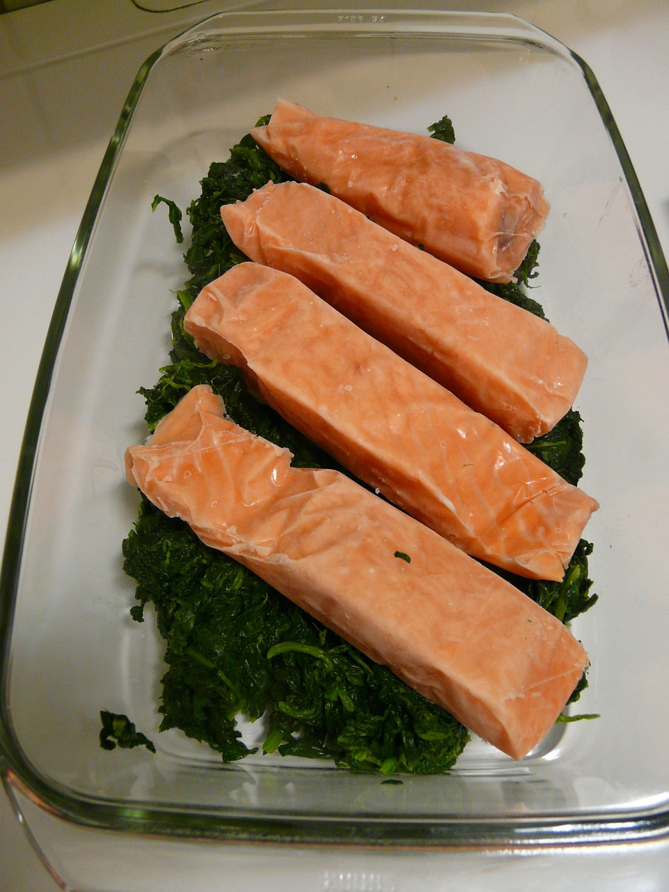 salmon spinach eat free photo