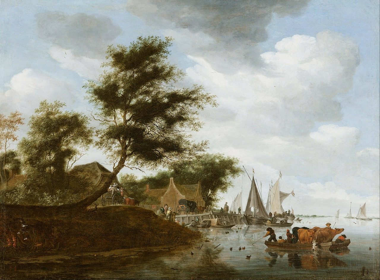 salomon ruysdael art artistic free photo