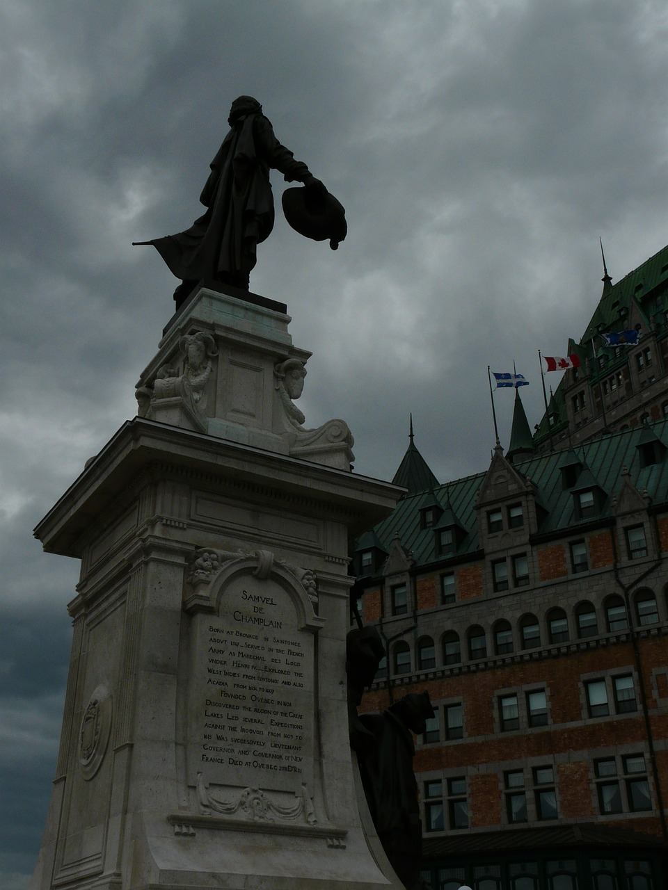 samuel de champlain quebec city 1608 free photo
