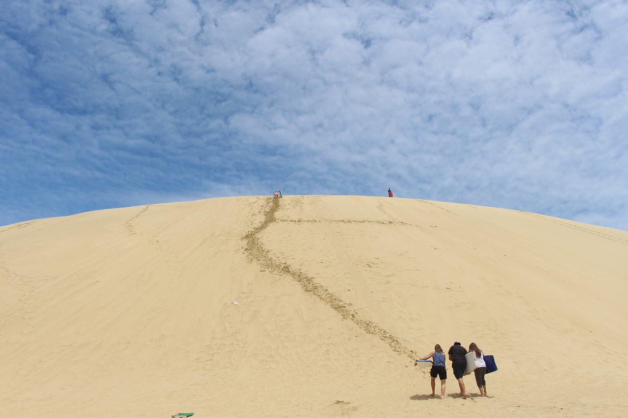 sand dune te paki new zealand free picture