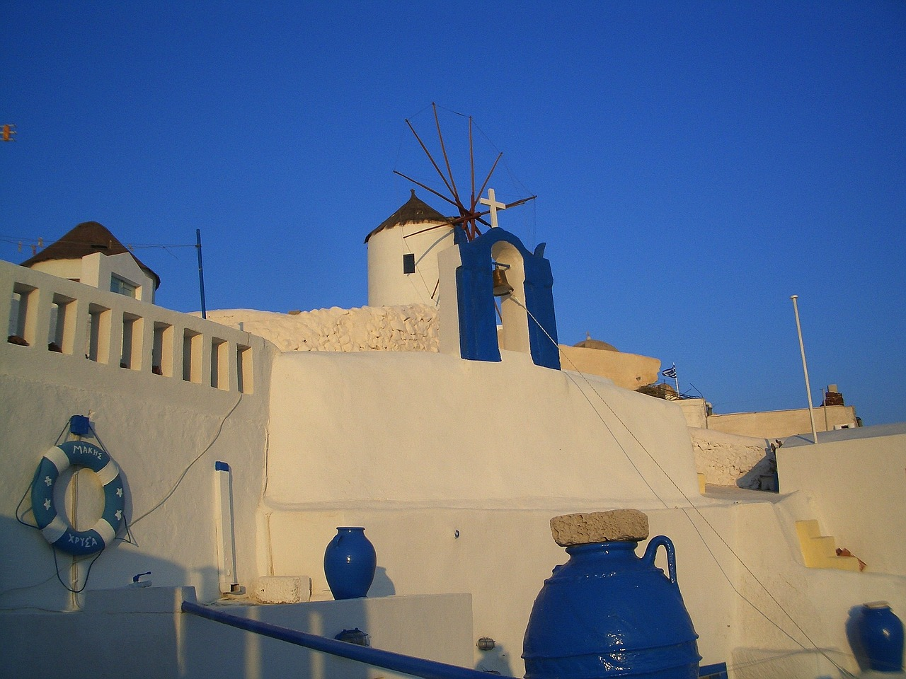 santorin greece building free photo