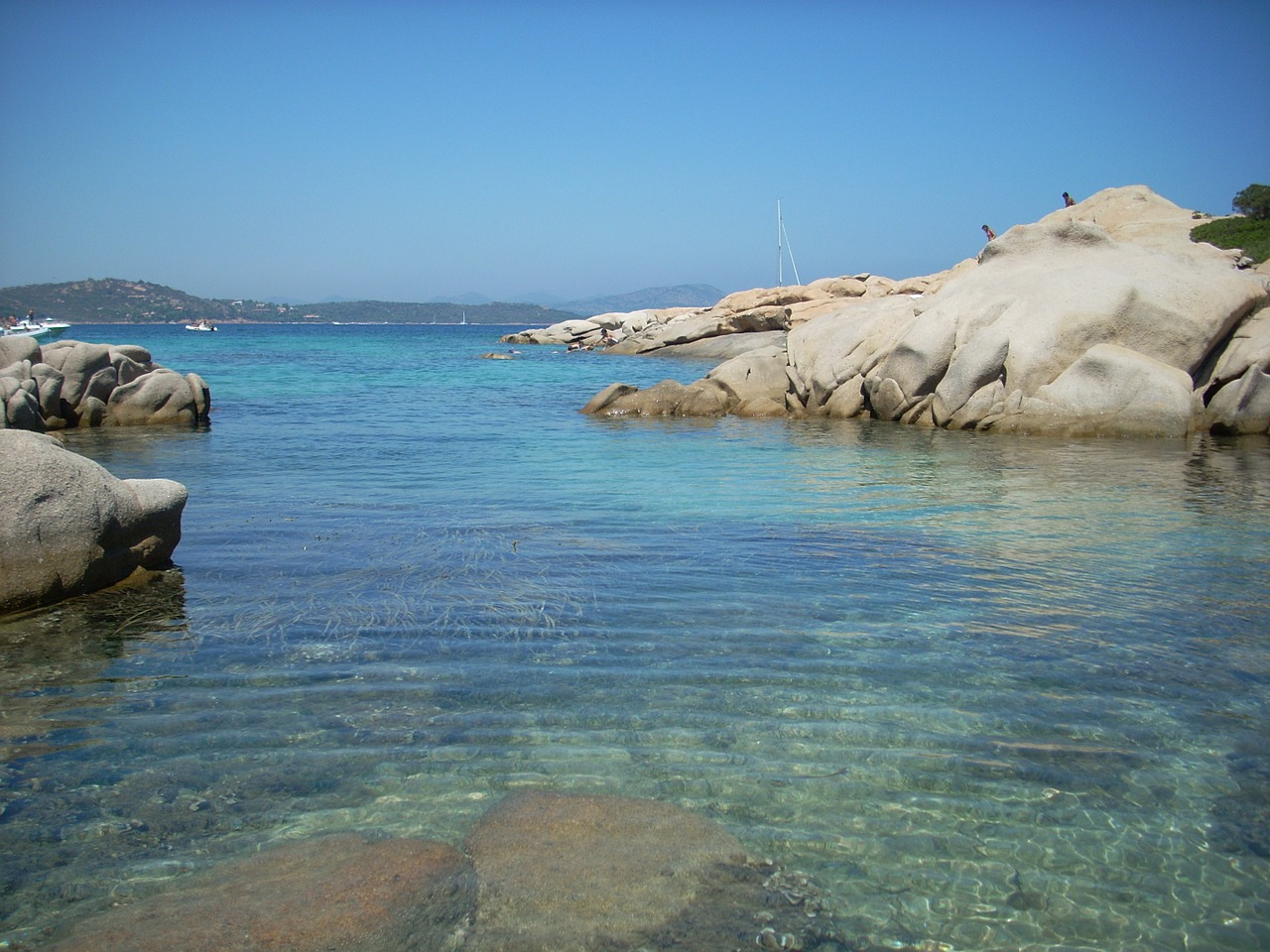 sardinia sea rocks free photo