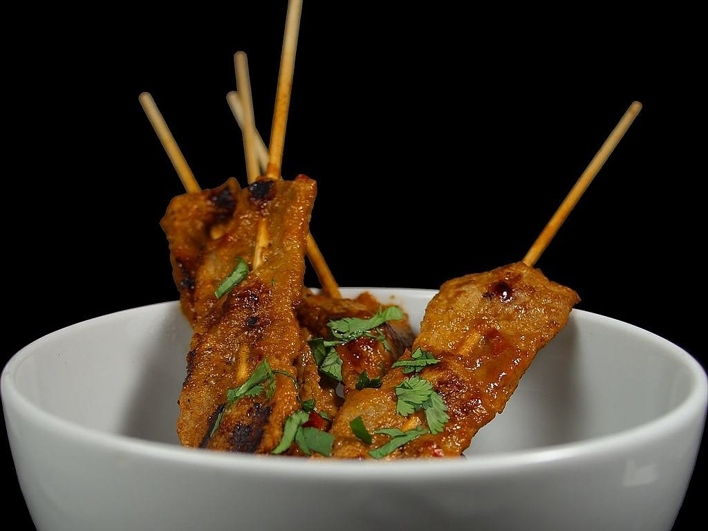 satay skewers sate skewers free photo