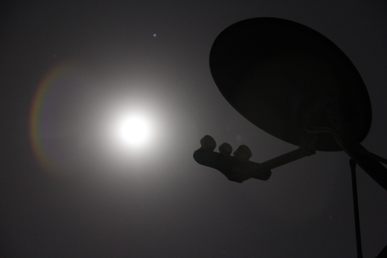 satellite dish night free photo