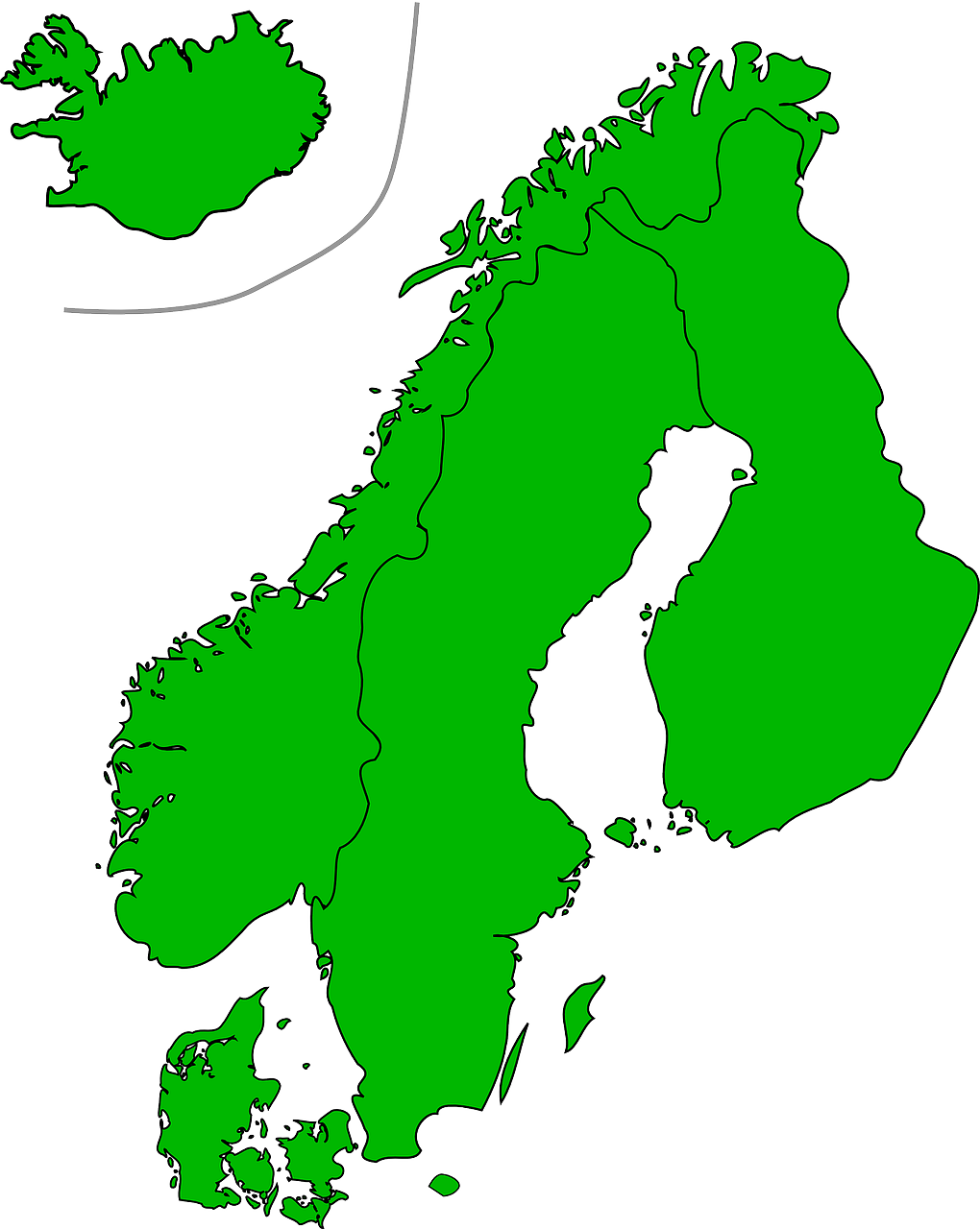 scandinavia map countries free photo