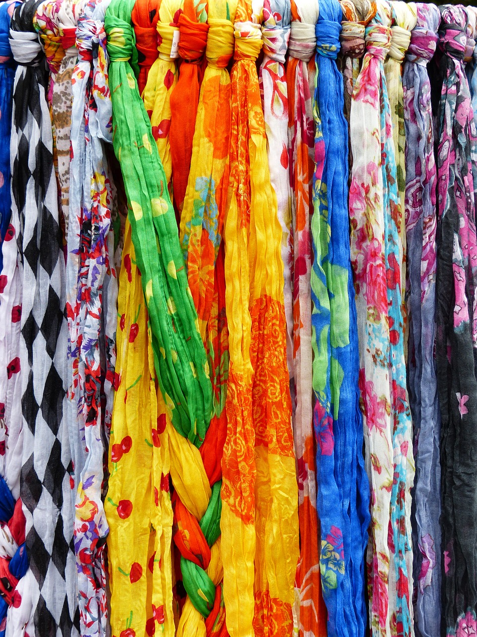 scarves towels colorful free photo