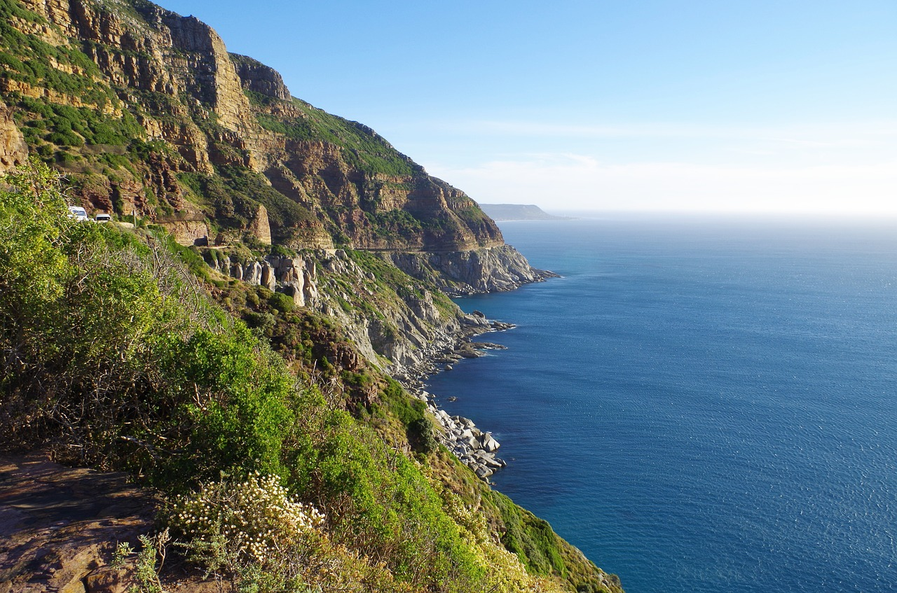 scenic drive chapman's peak south africa free photo