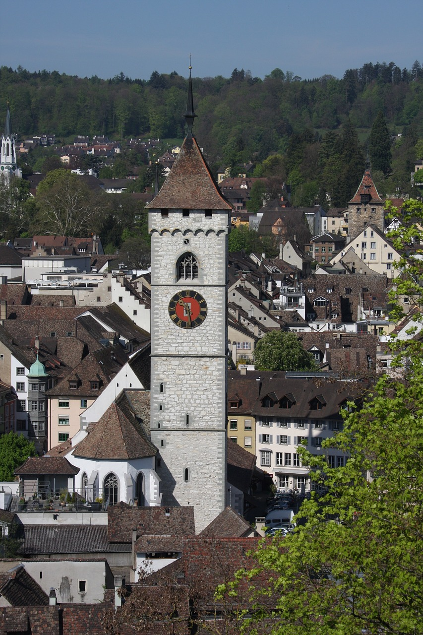schaffhausen overview city free photo