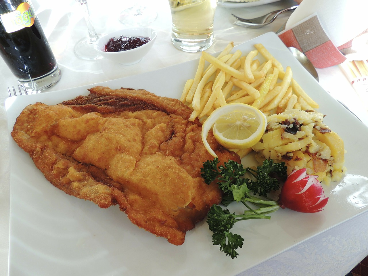 schnitzel ketchup french free picture