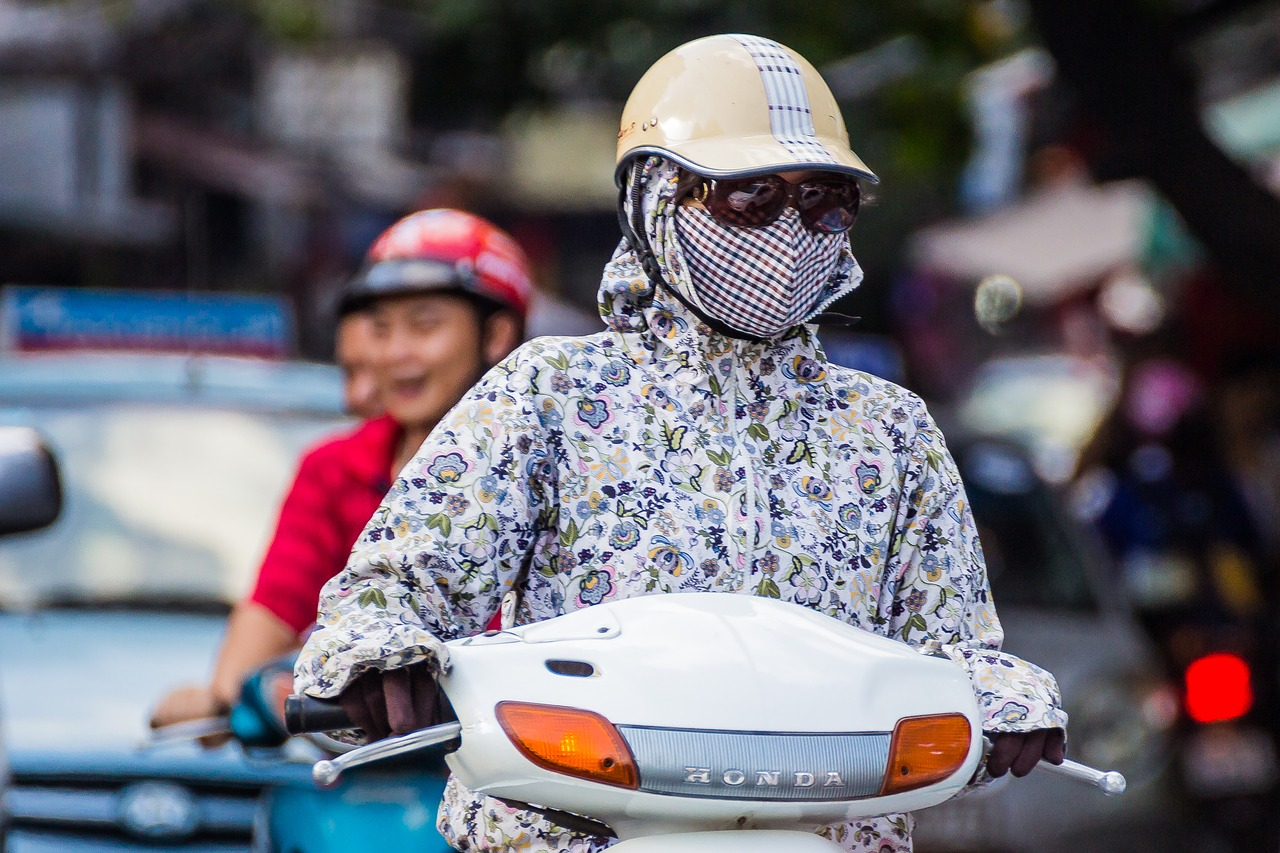 scooter traffic helmet free photo