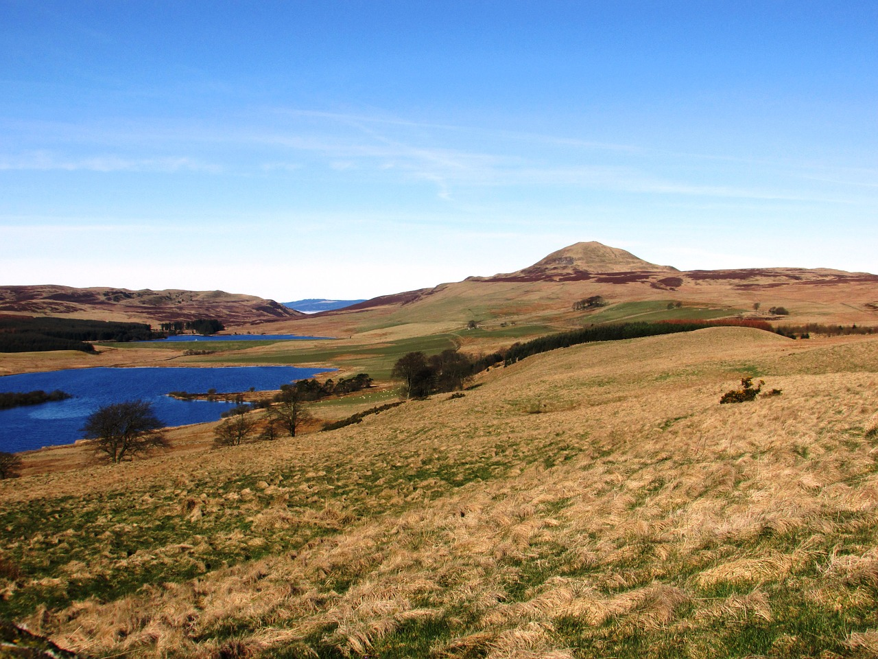 scotland mountains lomond hills free photo