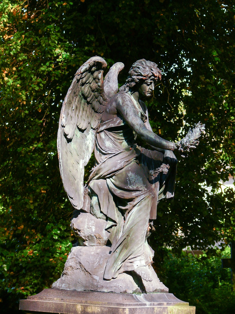 sculpture,cemetery,angel,statue,stone sculpture,monument,free pictures, free photos, free images, royalty free, free illustrations, public domain