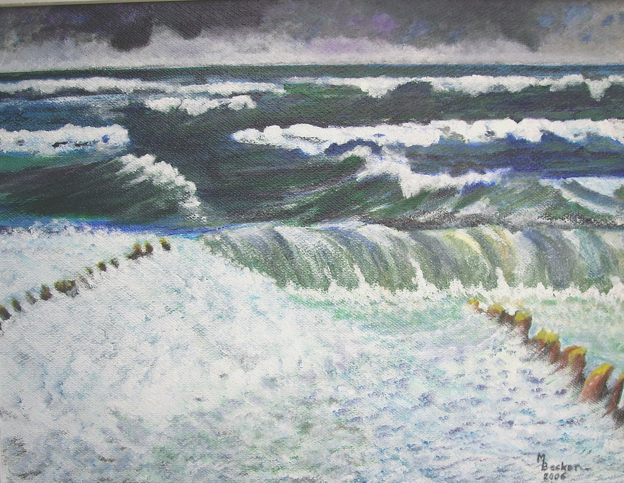 sea painting image free photo
