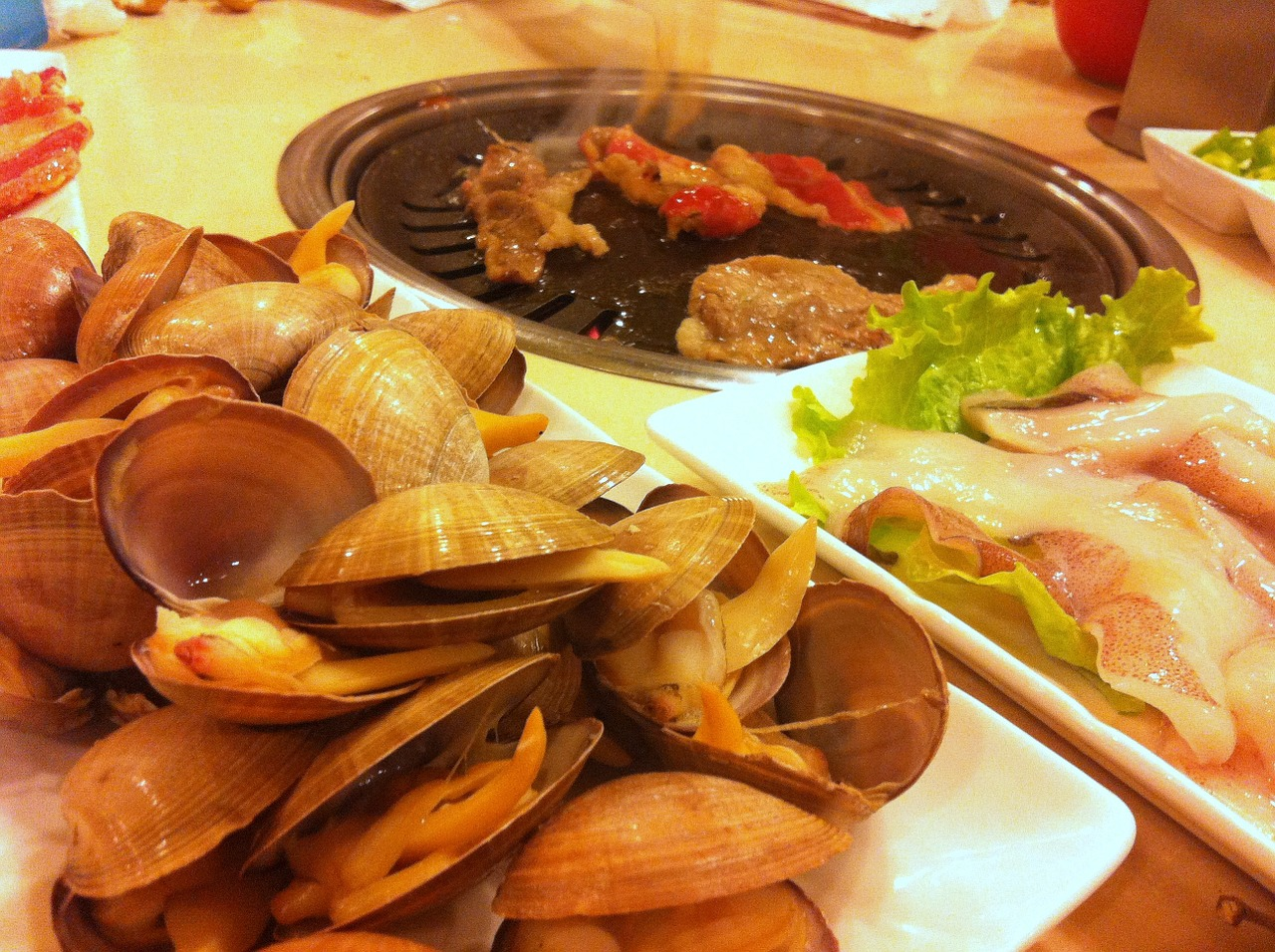 seafood barbecue hot free photo