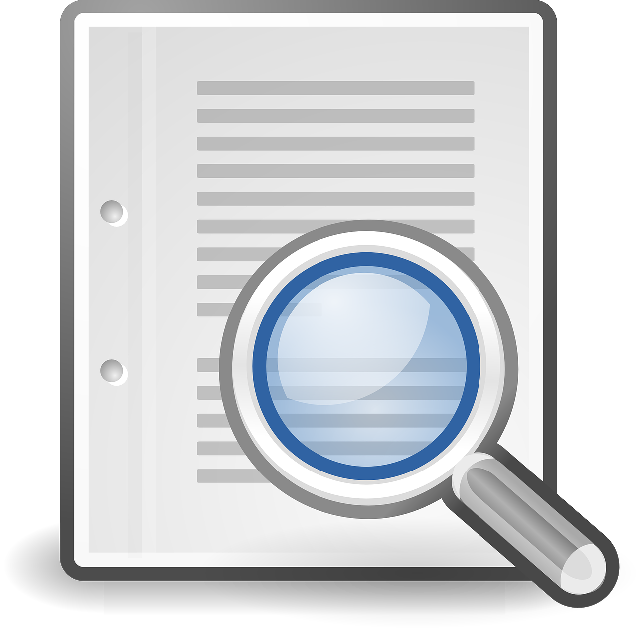 search loupe document free photo