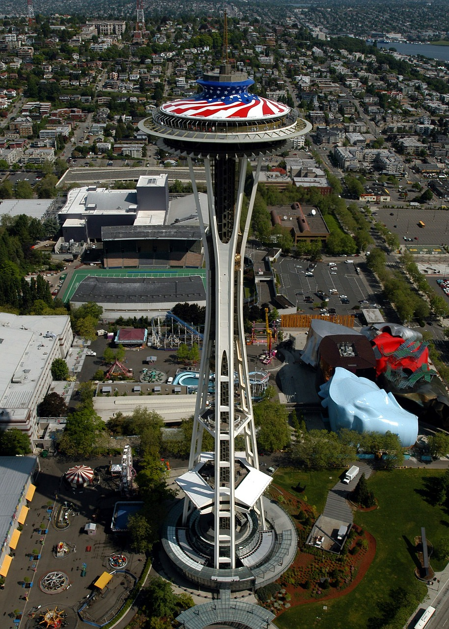 seattle washington space needle free photo
