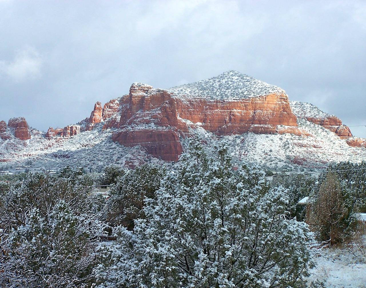 sedona winter mountains free photo