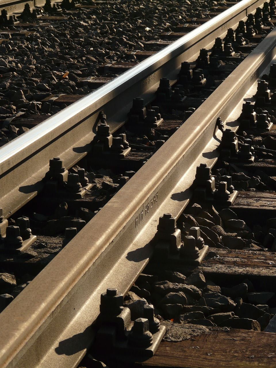 seemed track wooden sleepers free photo