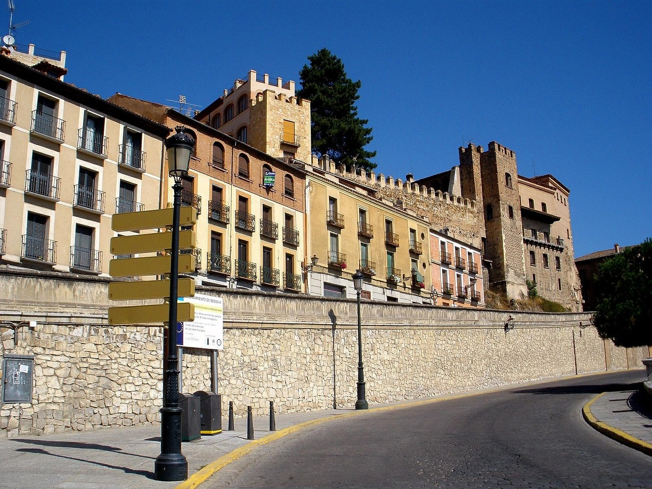 segovia spain building structure free photo