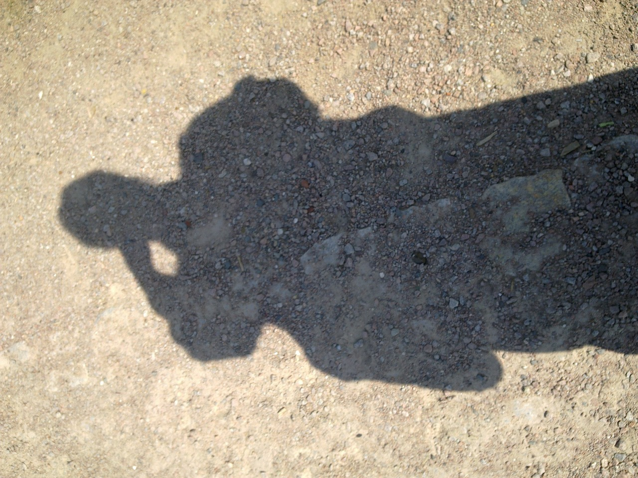 shadow sandy soil shadowy free photo