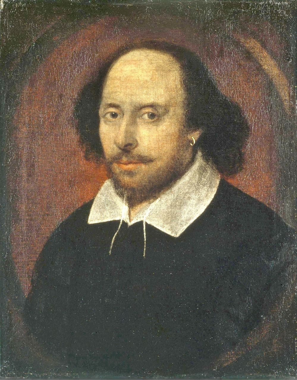 shakespeare,poet,writer,author,oil painting,portrait,man,1610,canvas,artwork,bald head,free pictures, free photos, free images, royalty free, free illustrations, public domain