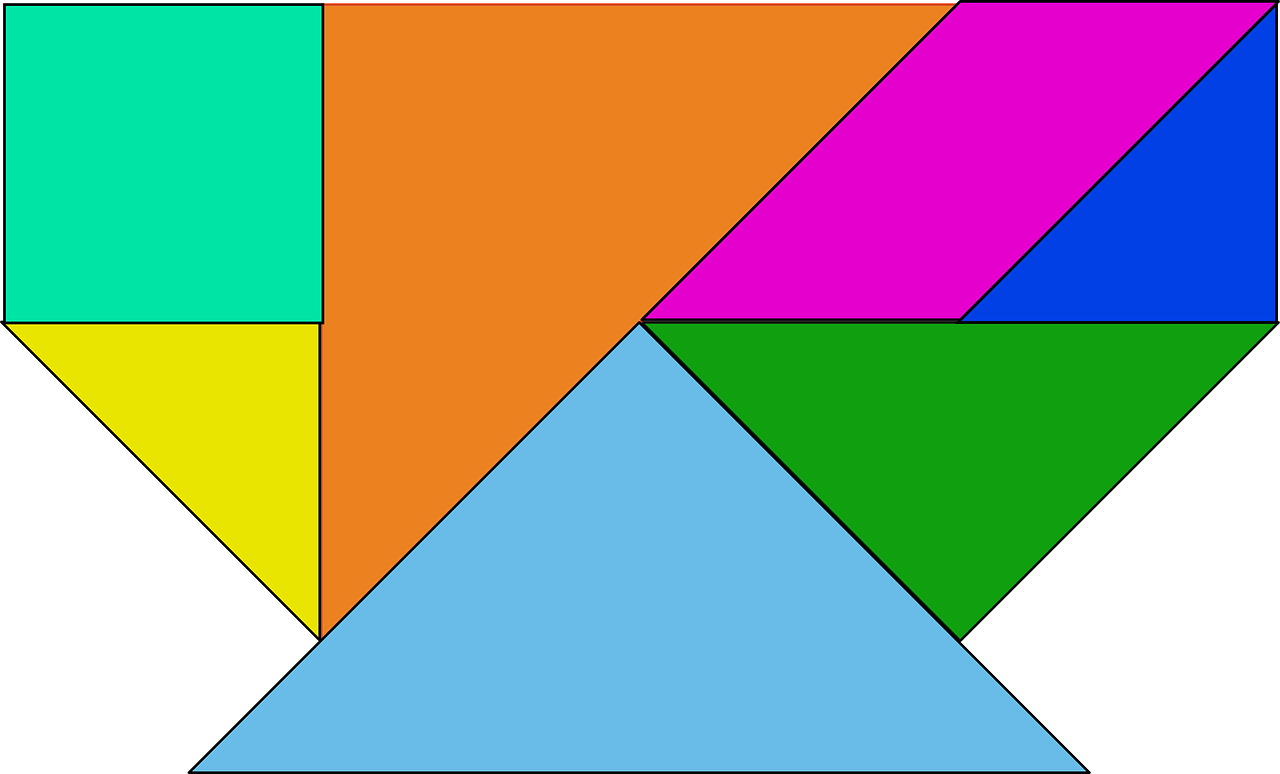 shapes colored tangram free photo