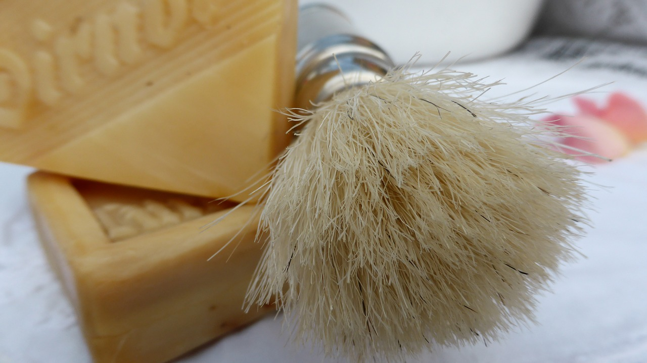 shaving brush cosmetics shaving free photo