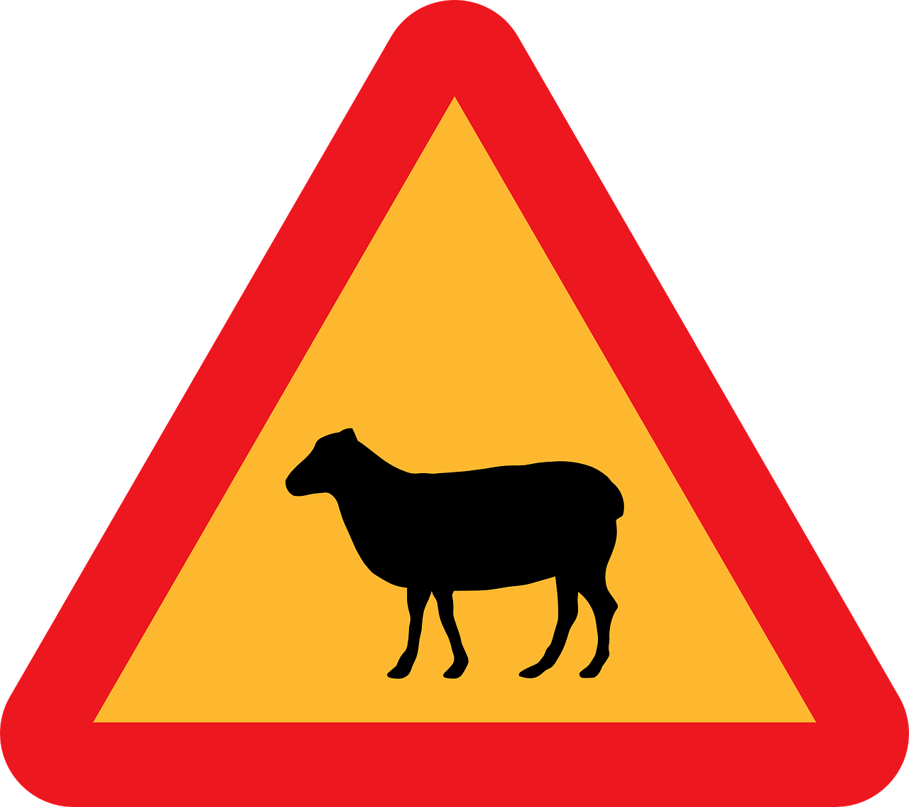 sheep crossing,roadsign,road sign,caution sign,warning sign,highway sign,traffic sign,free vector graphics,free pictures, free photos, free images, royalty free, free illustrations, public domain