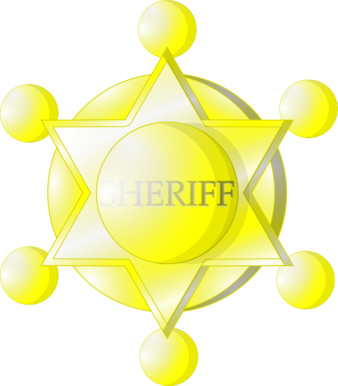 sheriff badge yellow free photo