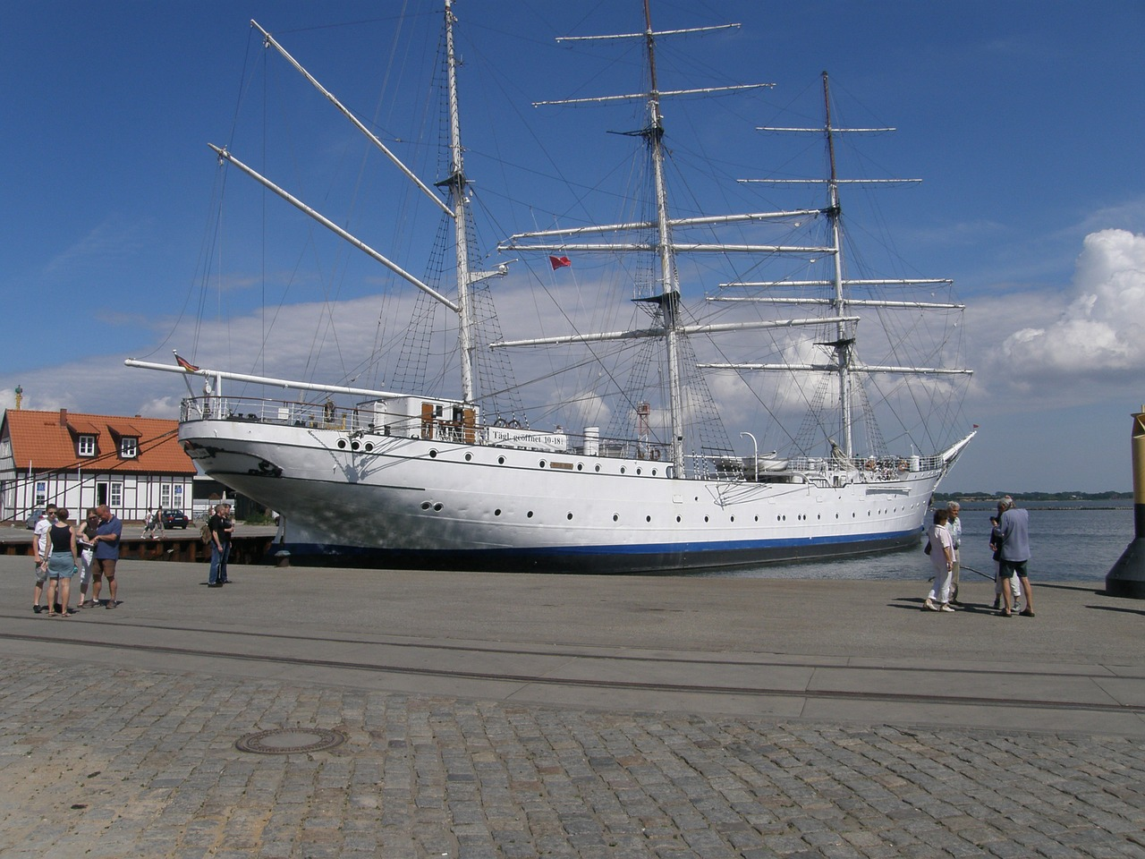 ship gorch fock training ship free photo