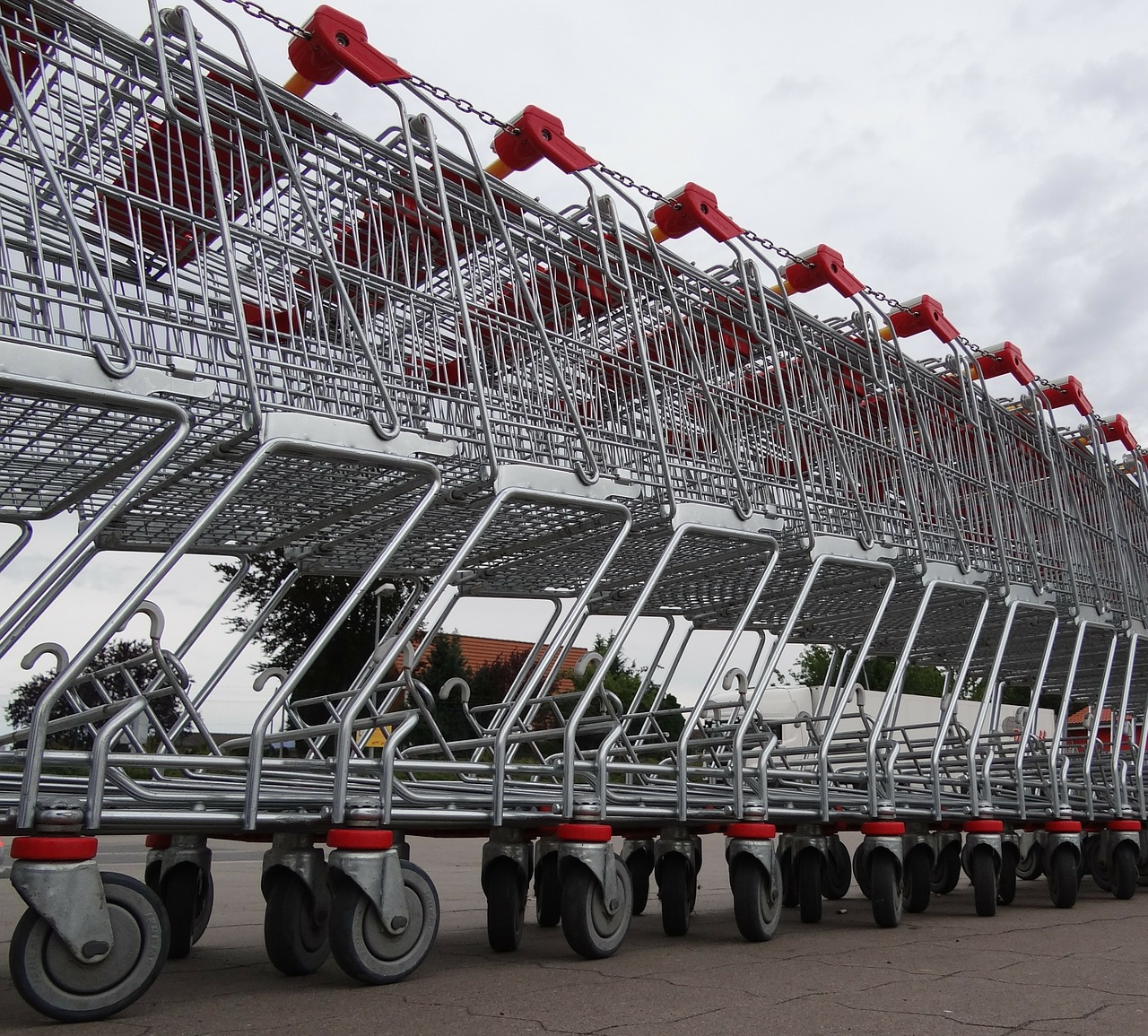 shopping cart purchasing supermarket free photo