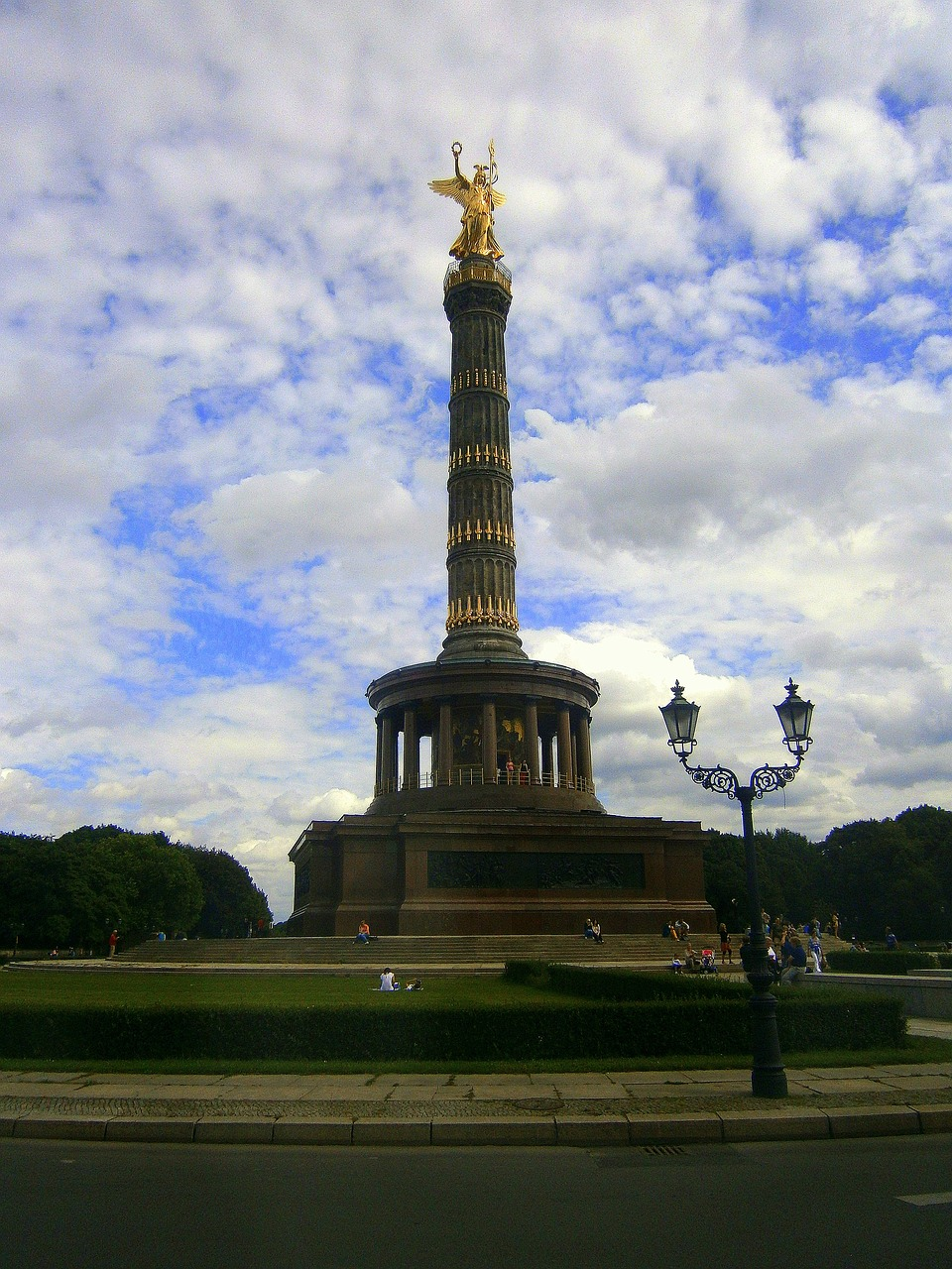 siegessäule pillar berlin free photo
