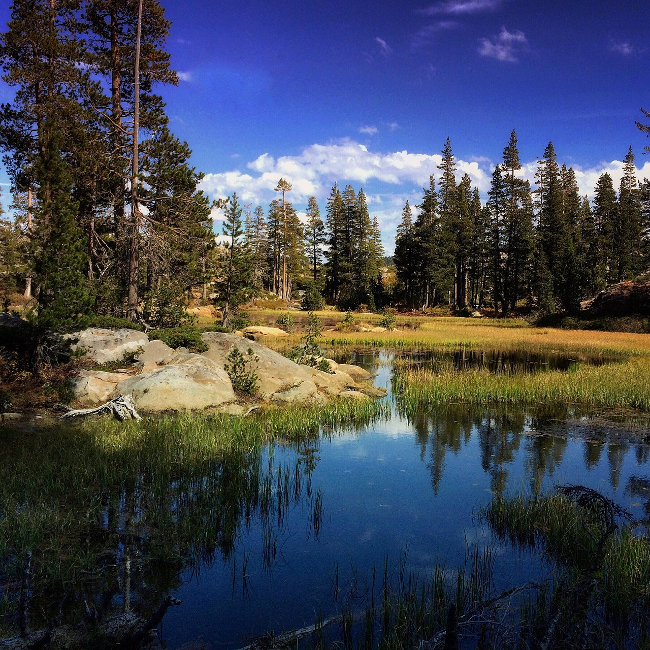 sierra nevada hiking lake free photo