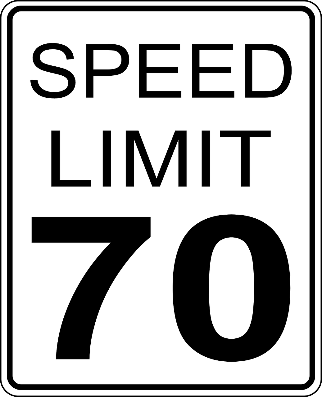 sign speed limit 70 free photo