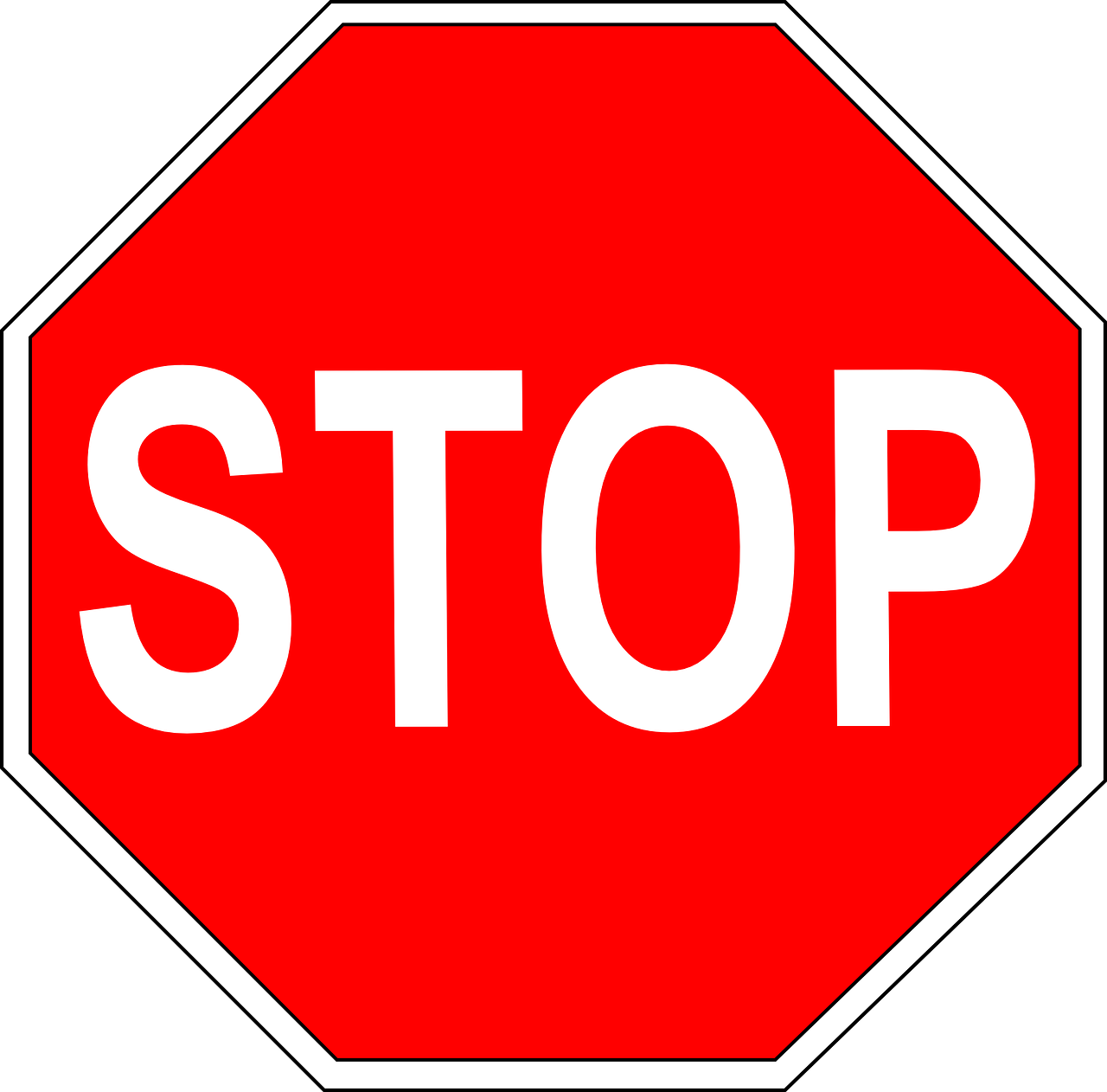 sign stop safety free photo