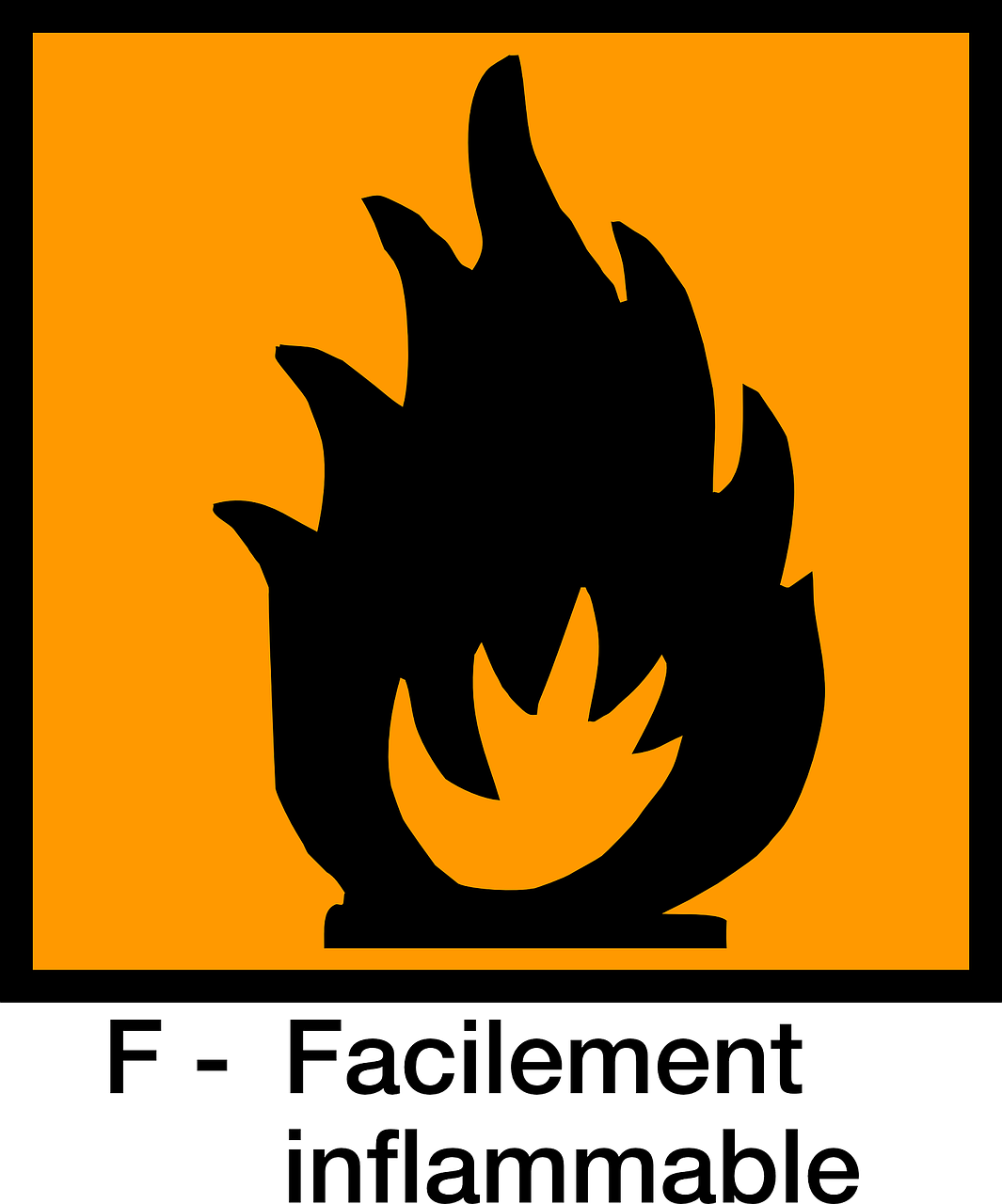 signs inflammable warning free photo