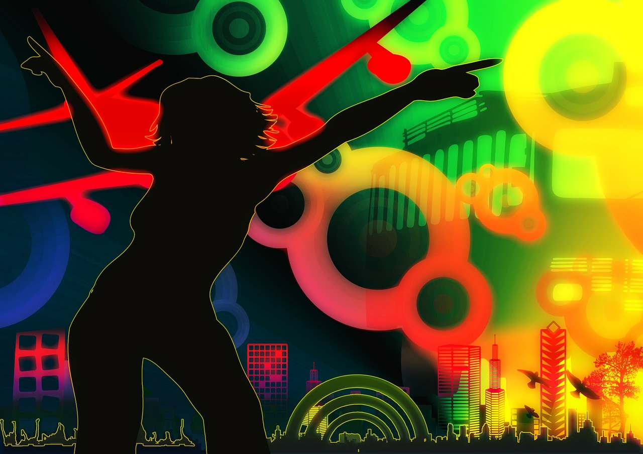 silhouette girl movement free photo