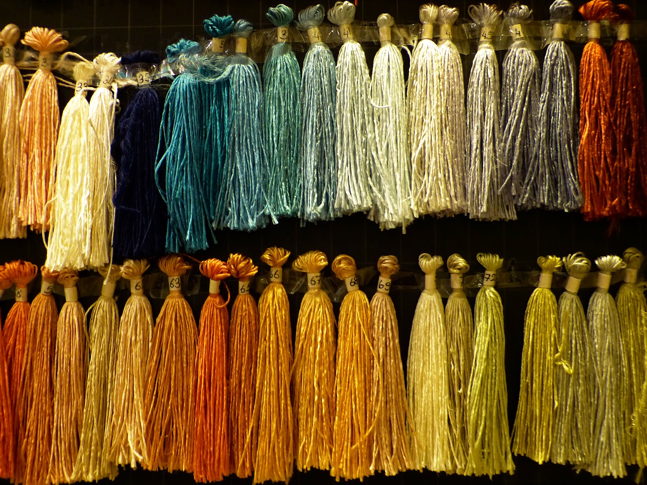 silk thread raw silk free photo