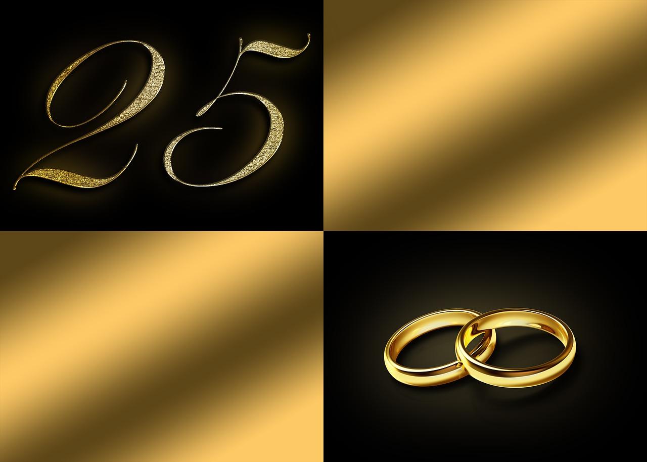 Silver Wedding Anniversary25 Yearsanniversary 25 Yearsnumber 25