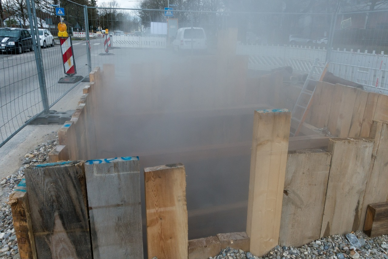 site district heating steam free photo