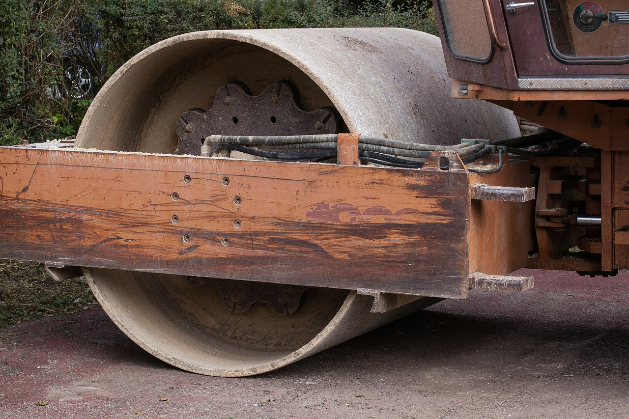 site steam roller roll free photo