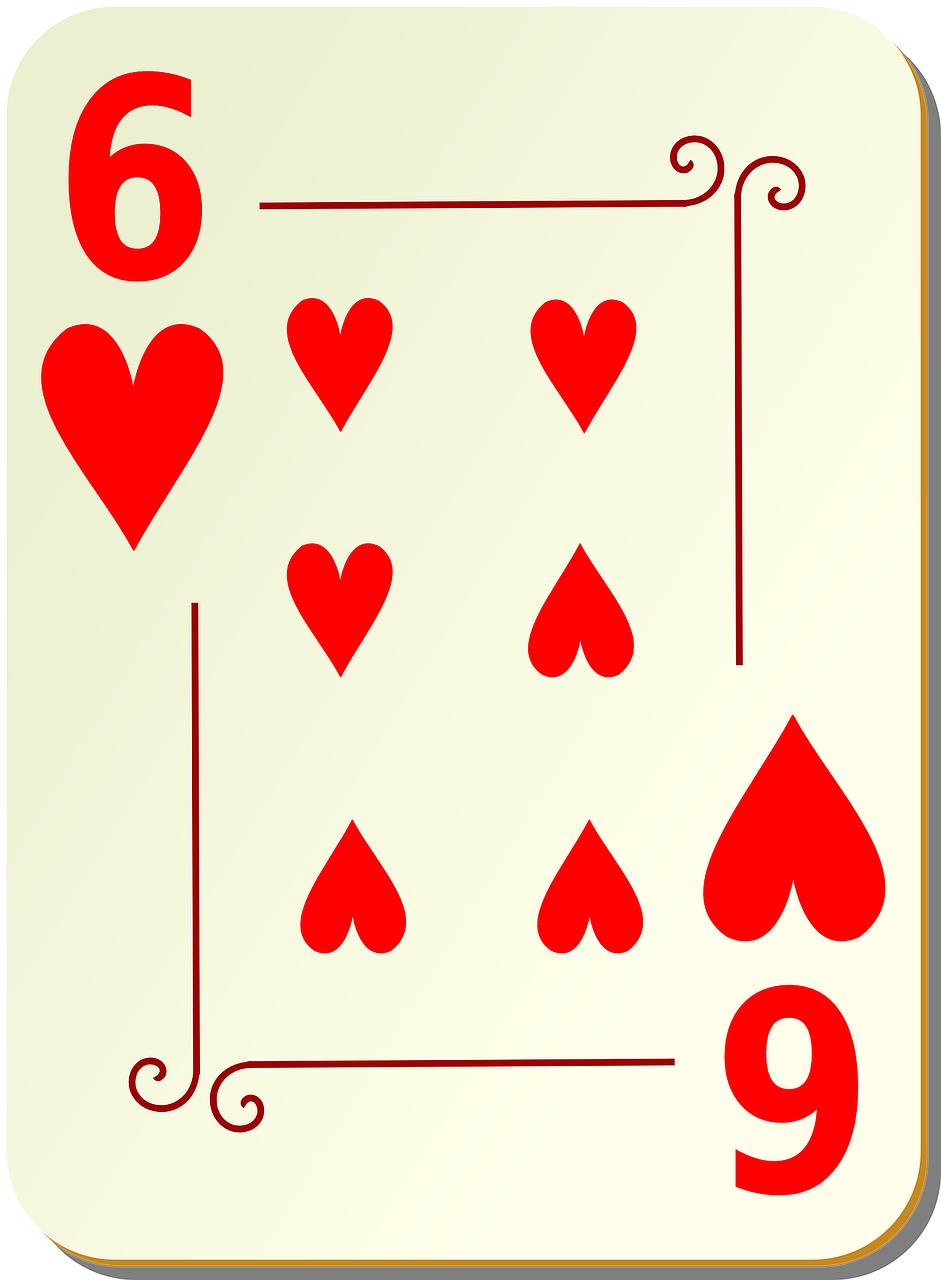 six hearts playing cards free photo