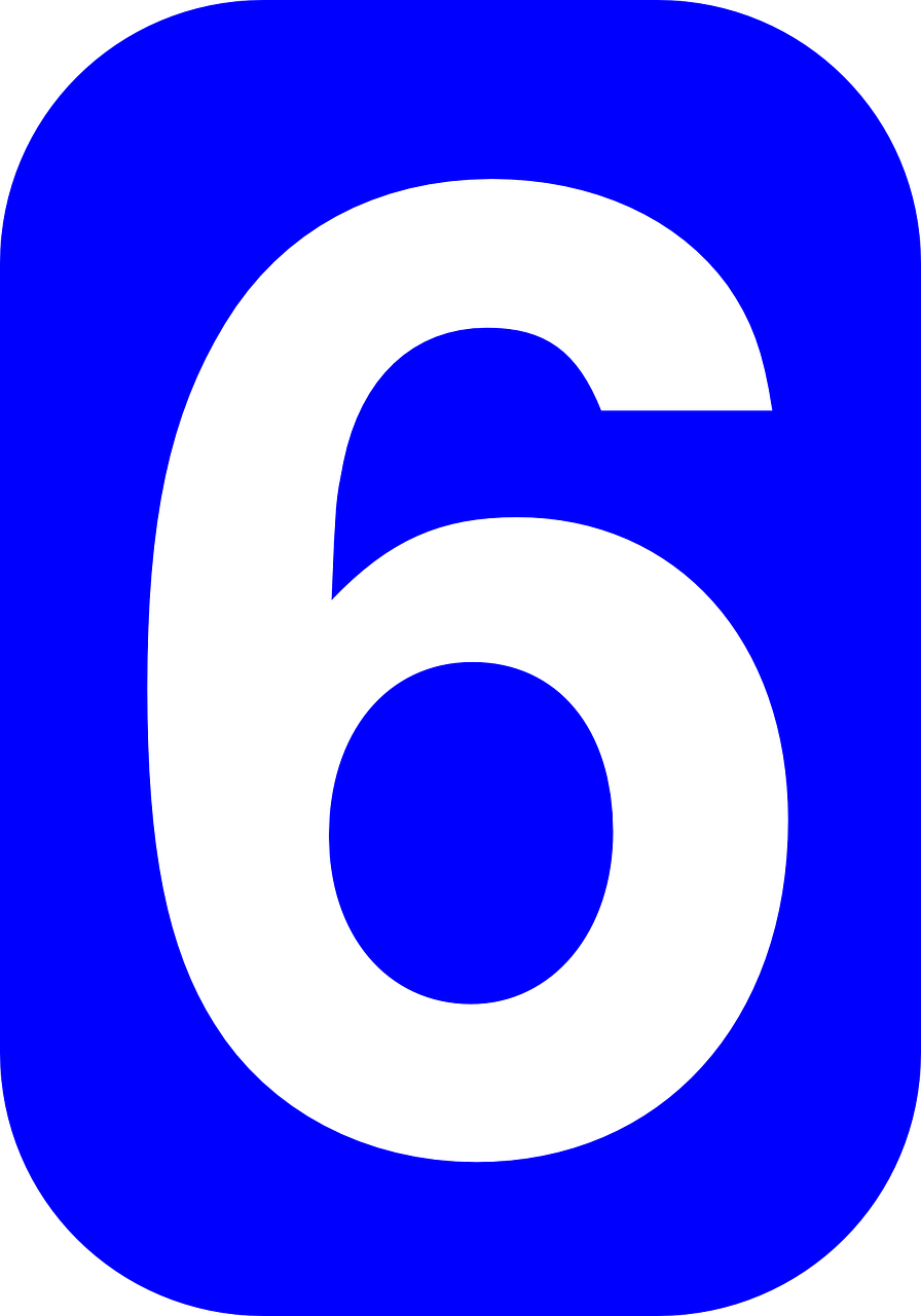 six number 6 free photo