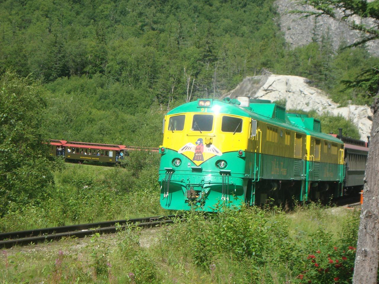 skagway alaska train track transportation free photo from