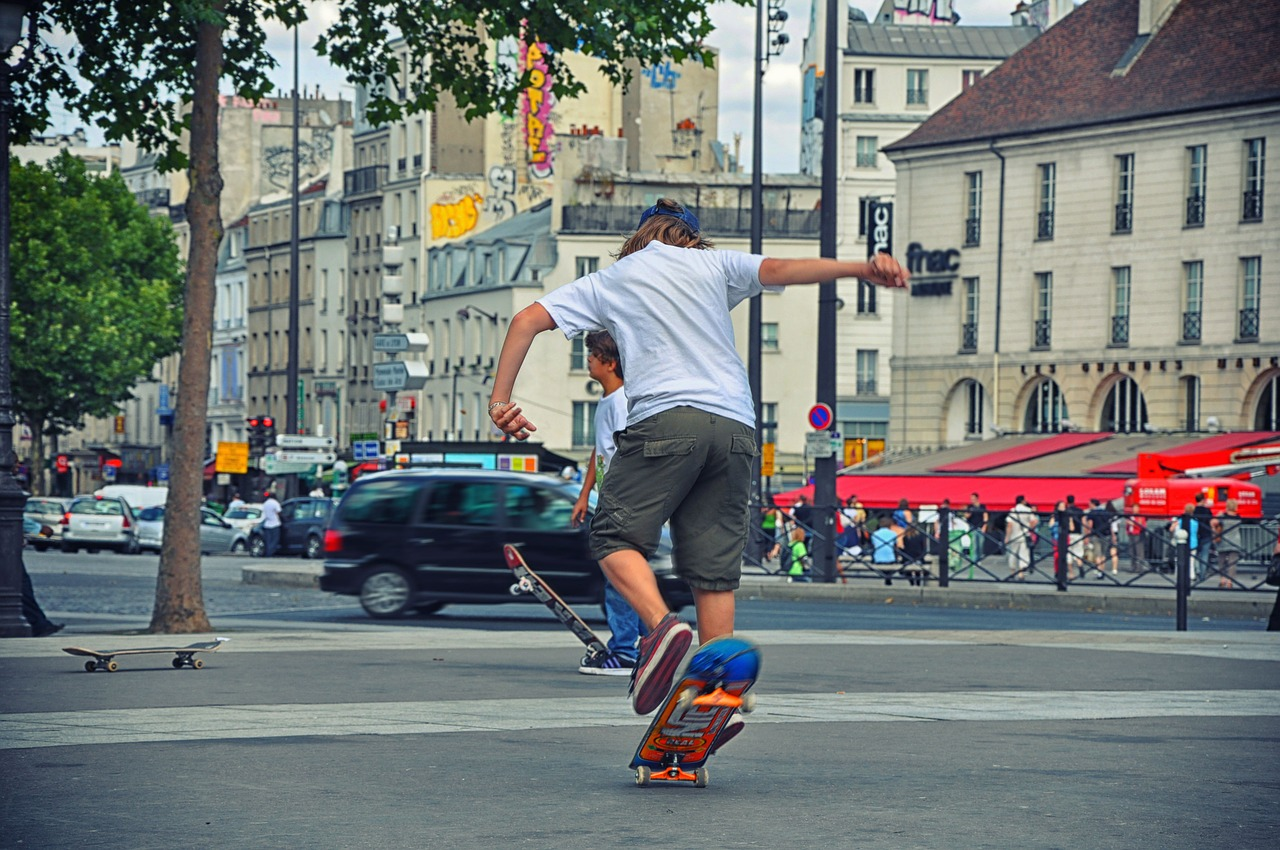 skateboard adolescence urban sport free photo