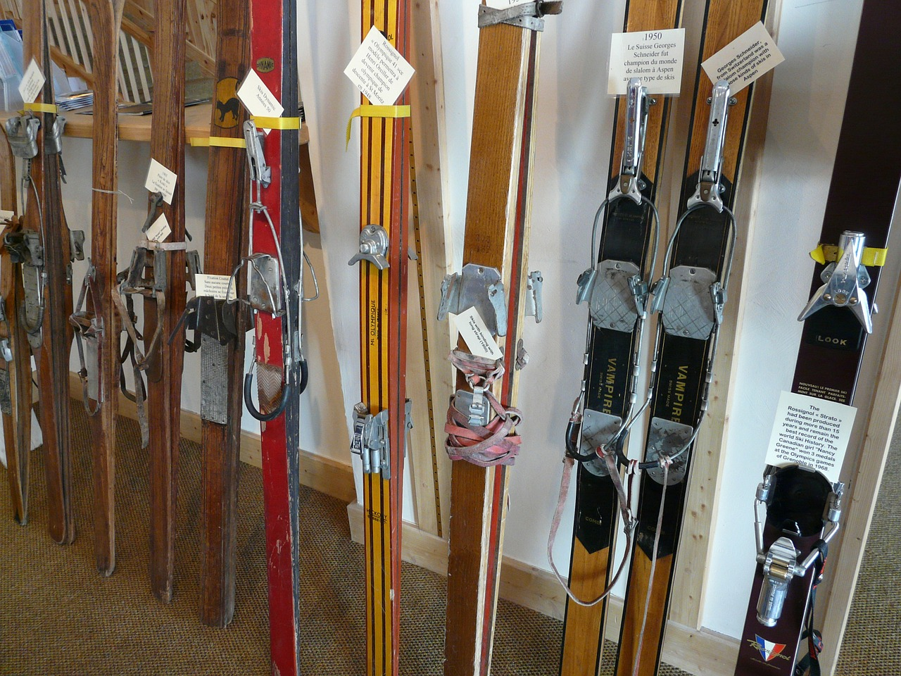 ski wooden skis ski history free photo