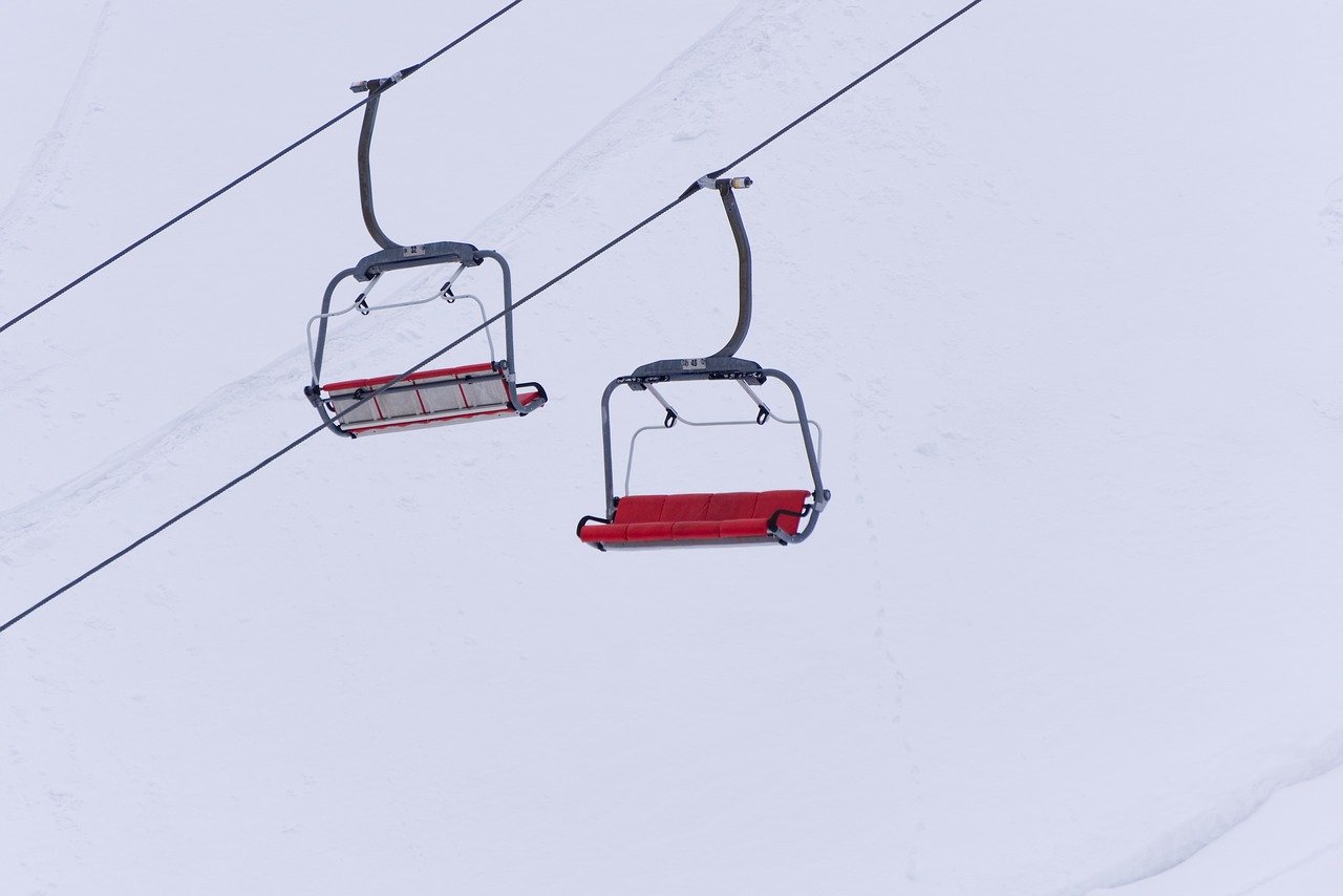 ski lift  chairlift  carry free photo