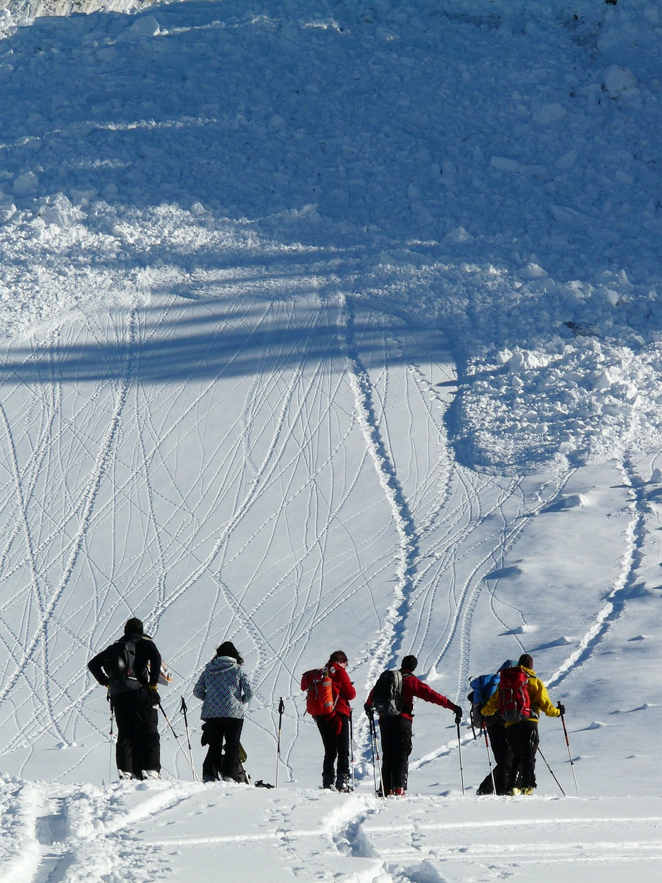 backcountry skiiing avalanche loose snow avalanches free photo