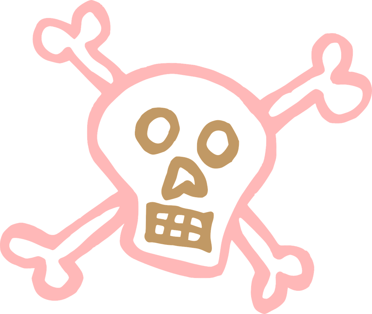 skull and crossbones danger death free picture
